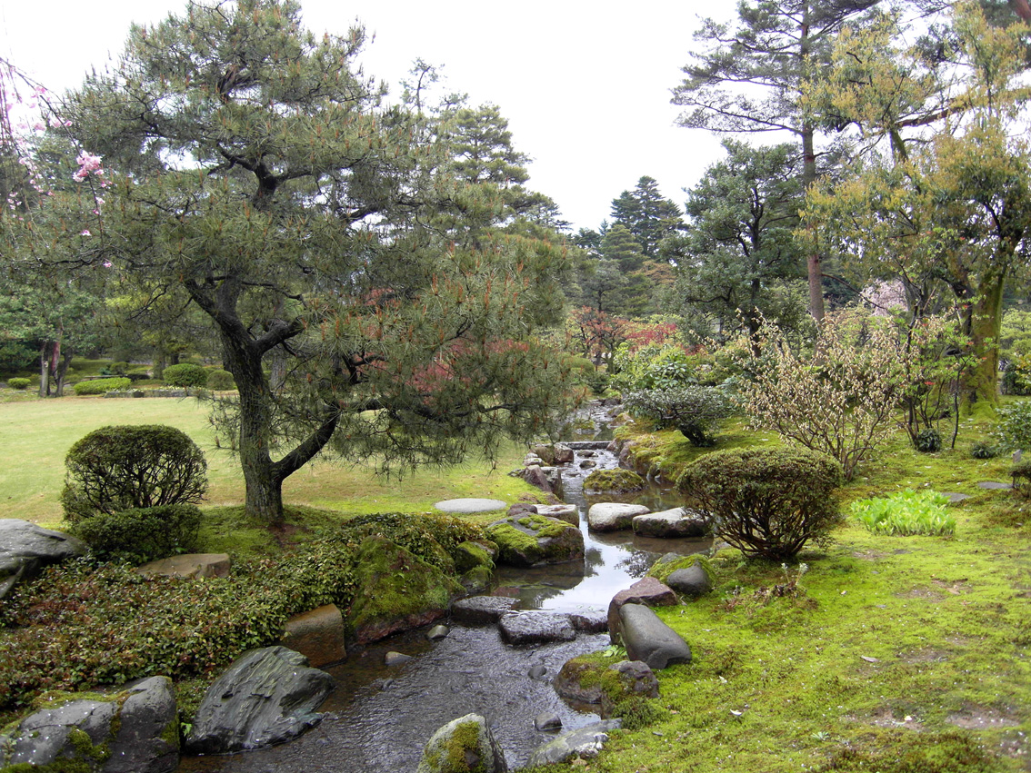 Kenroku En Park In Kanazawa City Is The Largest Of The