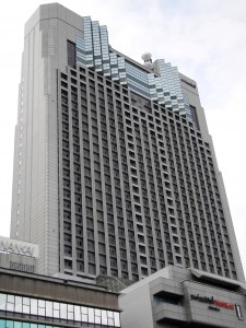 Colour photograph showing the High-Rise Swissôtel Nankai in Osaka, Japan. Photograph by CJ Walsh. 2010-04-20. Click to enlarge.