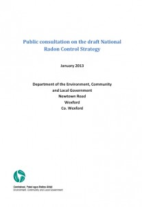 DECLG - Draft National Radon Control Strategy Title Page (January 2013)