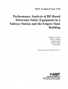 NIST Technical Note 1792 (March 2013) - Title Page
