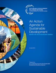 UN SDSN's 'An Action Agenda for Sustainable Development' - Final Report Cover