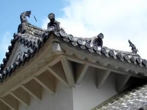 Himeji Castle, Japan - Roof Detail