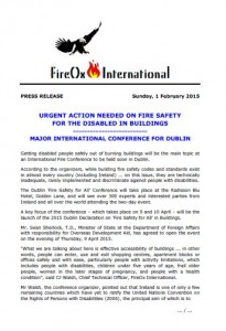 FireOx International's First Event Press Release