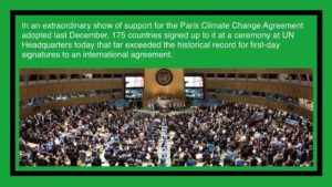UN Official Signing Ceremony for the 2015 Paris Climate Change Agreement